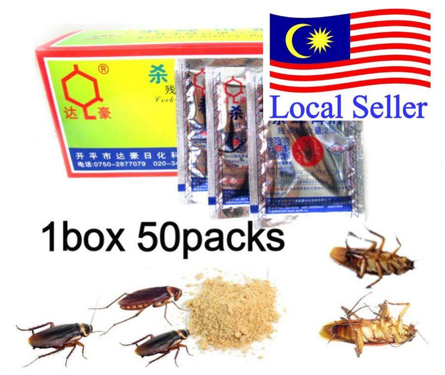 50packs Cockroach Powder Killing Bait Roach Killer Insecticide
