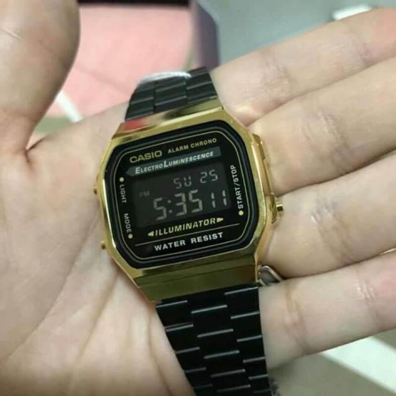 Casio A168 Black Gold Viral Malaysia