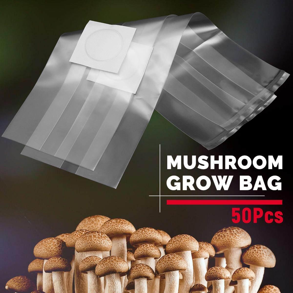 50Pcs 98x350x0.06mm PVC Mushroom Grow Bag Substrate High temp Pre Sealable