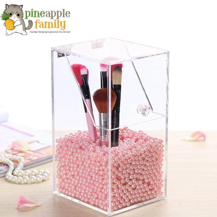 Transparent Acrylic Makeup Brushes Container Sundries Storage Case Holder Small