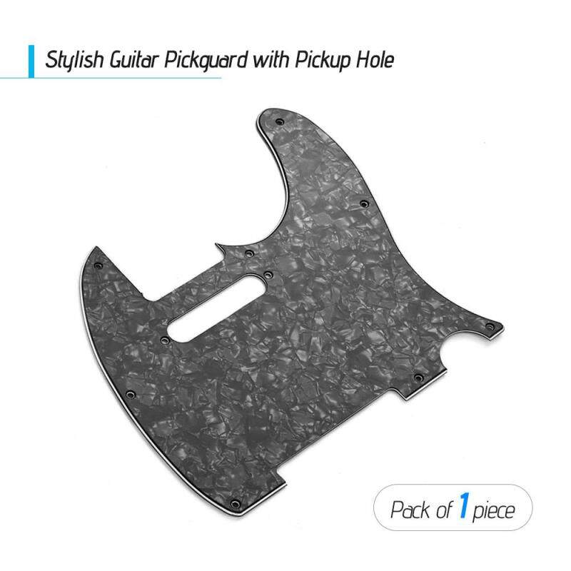3Ply Guitar Pickguard with Single Coil Pickup Hole for Telecaster Style Electric Guitar Black Pearl Malaysia