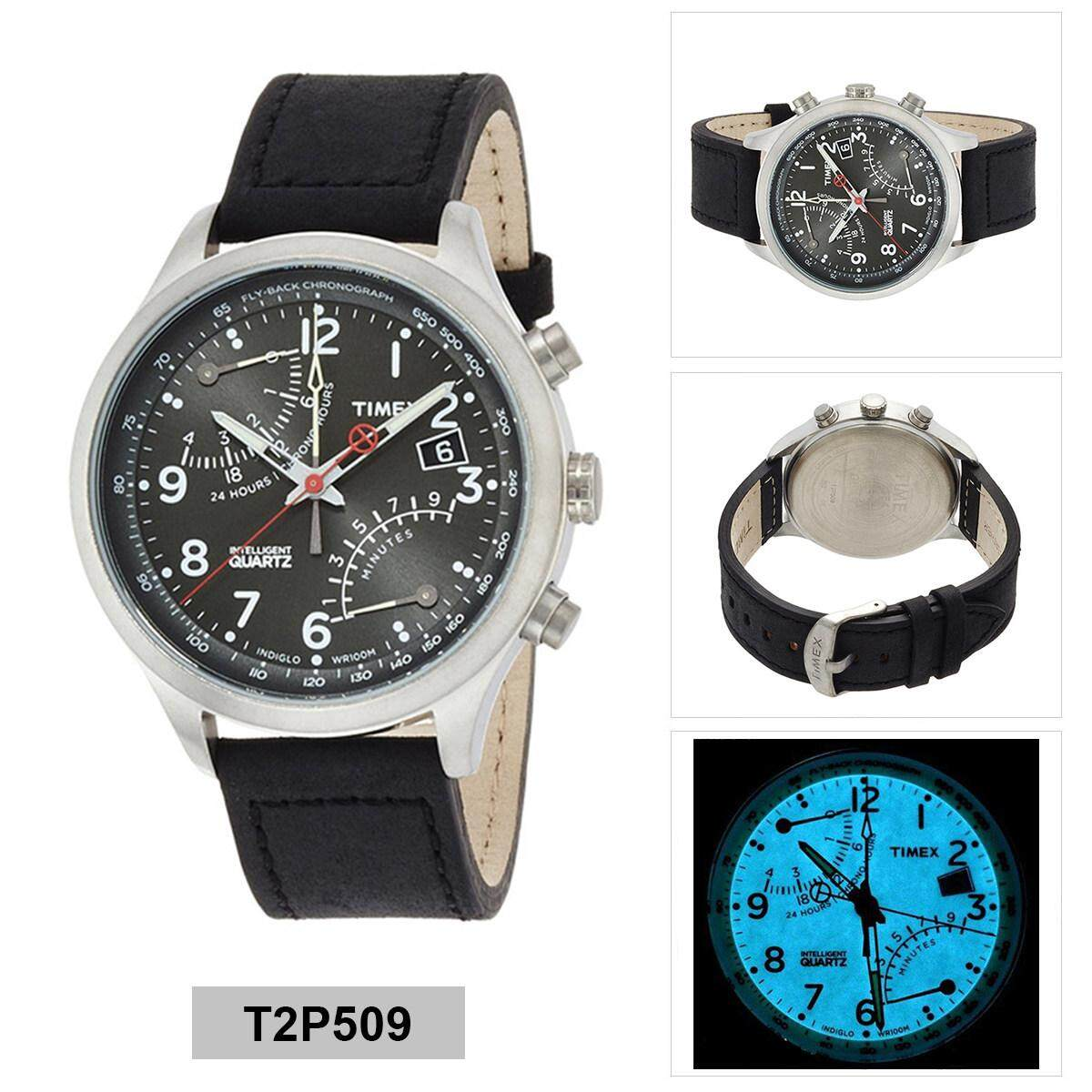 Timex Watches Price In Malaysia Best Lazada Weekender Fairfield Chronograph Tw2r37800 Original Intelligent Black Stainless Steel Case Leather Strap Mens T2p509