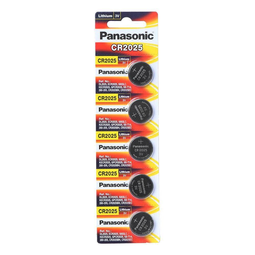 (Pack Of 5) Panasonic CR2025 3 Volt Lithium Battery