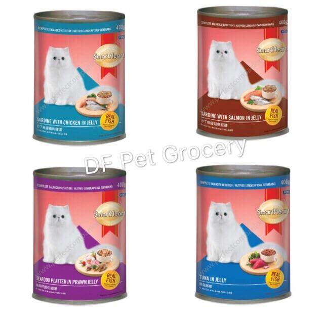 SmartHeart Cat Cans 400gm X 24 Canned - Mix Flavor Cat Wet Food