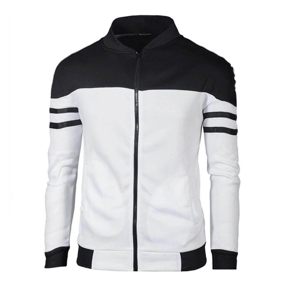 92c1635a19a yunmiao Men Fashion Color-matching Outdoor Breathable Casual Jacket Coat  with Zipper Size M