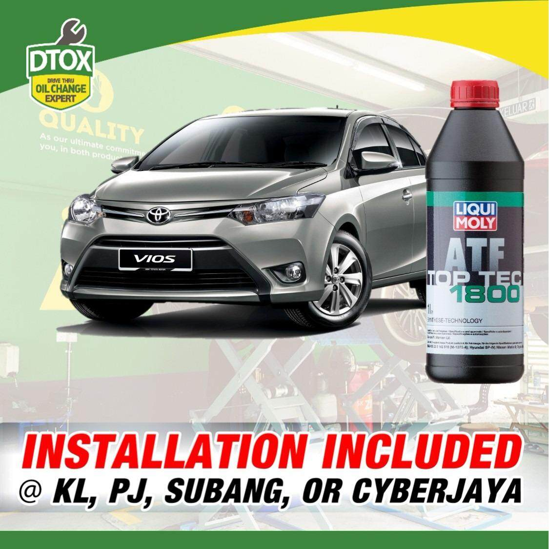 Atf Replacement Service For Vios 2nd / 3rd Gen (4 Liters) Using Liqui Moly Top Tec Atf 1800 By Dtox Car Service.