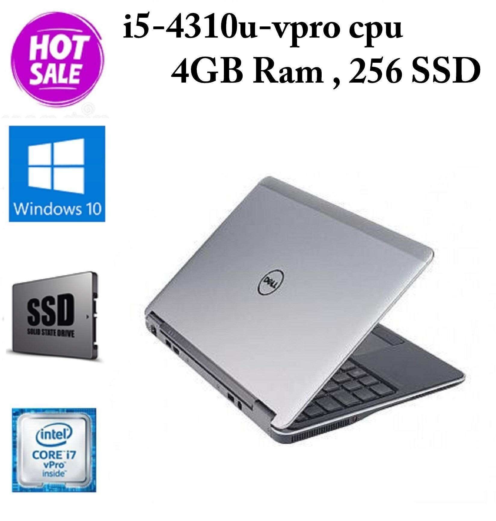 Dell Latitude Ultrabook E7240 - Core i5-4th Gen -4 GB RAM - 256 GB SSD - 12.5-inch - (Imported) Malaysia