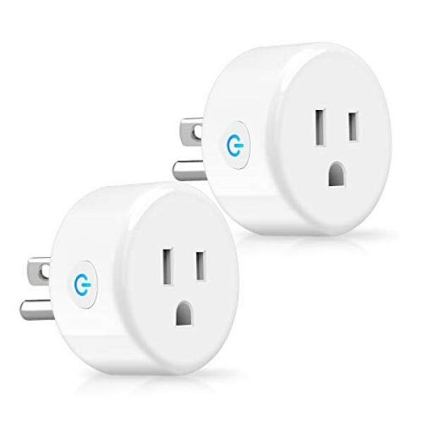 YTE Smart Plug, WiFi Outlet Compatible with Alexa Echo, Google Home, Alexa Outlet Smart Socket Control Your Devices with Timing Function from Anywhere, ETL and FCC Listed, No Hub Required (2 Pack)