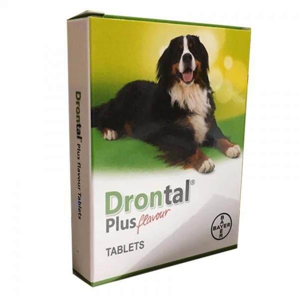 Bayer Drontal Plus Flavour Tablets - Dog - 4 Tablets By Irene Aquarium & Pet Saloon.