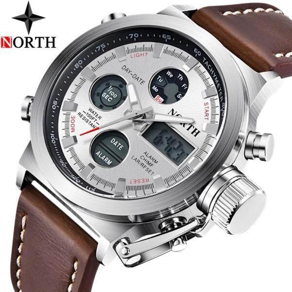 NORTH Mens Watches Top Brand Luxury LED Digital Quartz Watch Men Casual Waterproof Sport Chronograph Watch Malaysia