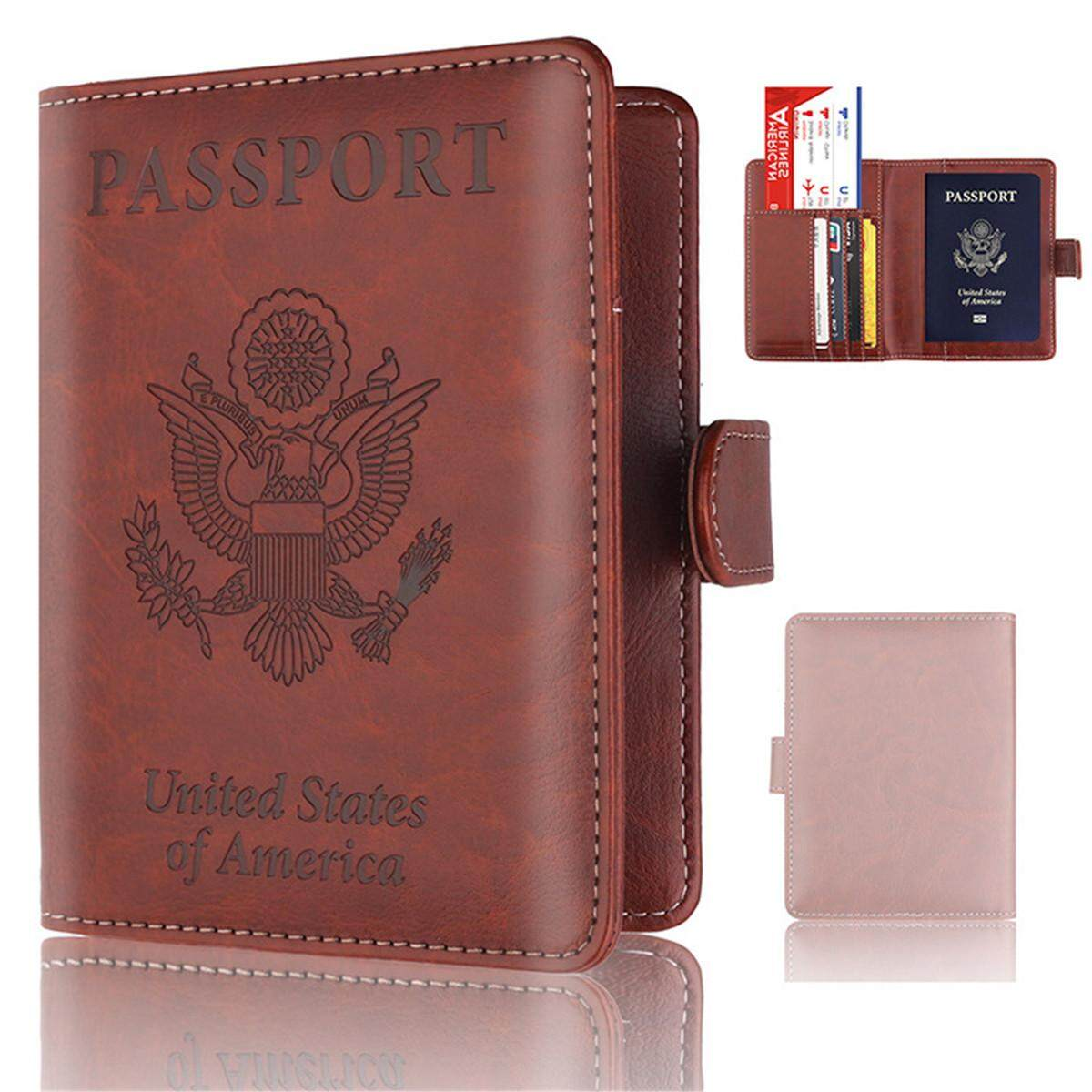 a3ef9a97dcd Passport Holder Wallet Cover Case RFID Blocking Travel Wallet Rose Gold   brown