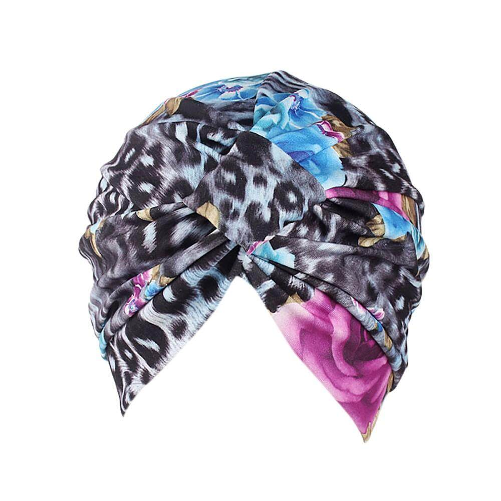 e2bd71a826e Malaysia. Women India Muslim Stretch Cotton Retro Floral Turban Hat Head  Scarf Wrap Cap