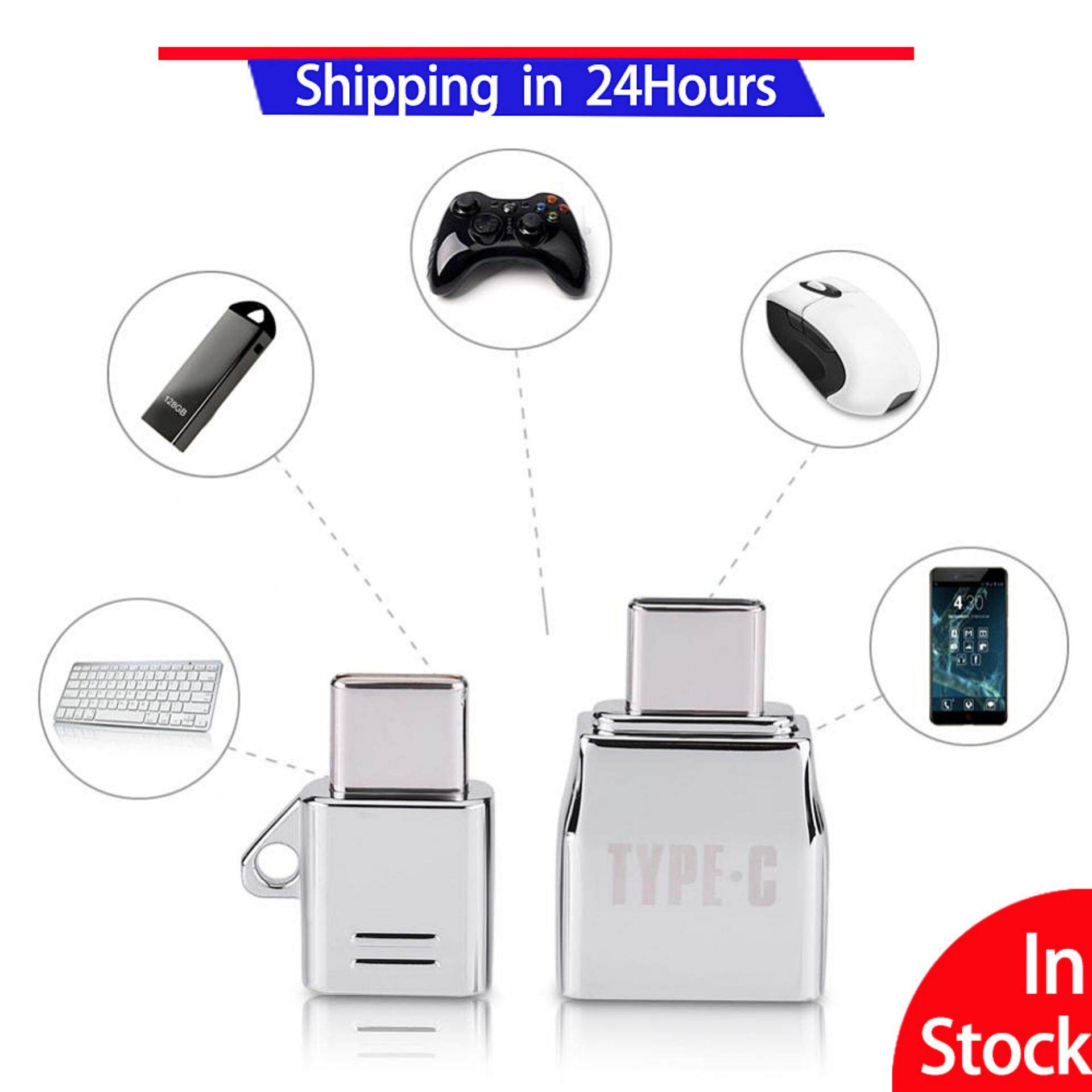 2pcs Micro Usb Female To Type C Usb Male Otg Adapter Charger Zinc Alloy Set Suit By Sweatbuy.