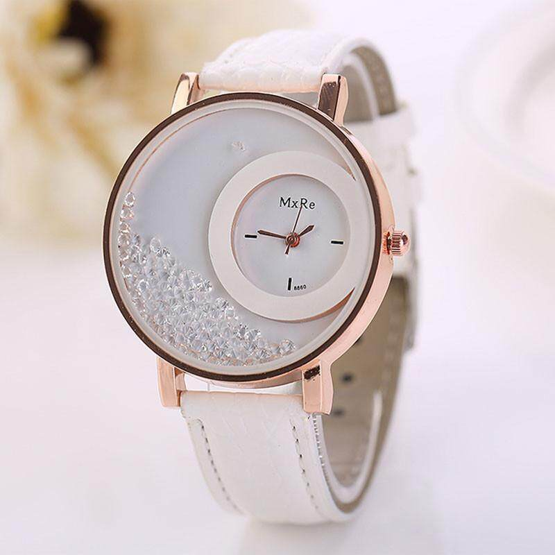 RADOCIE Woman Leather Quicksand Rhinestone Quartz Bracelet Wristwatch Watch WH Malaysia