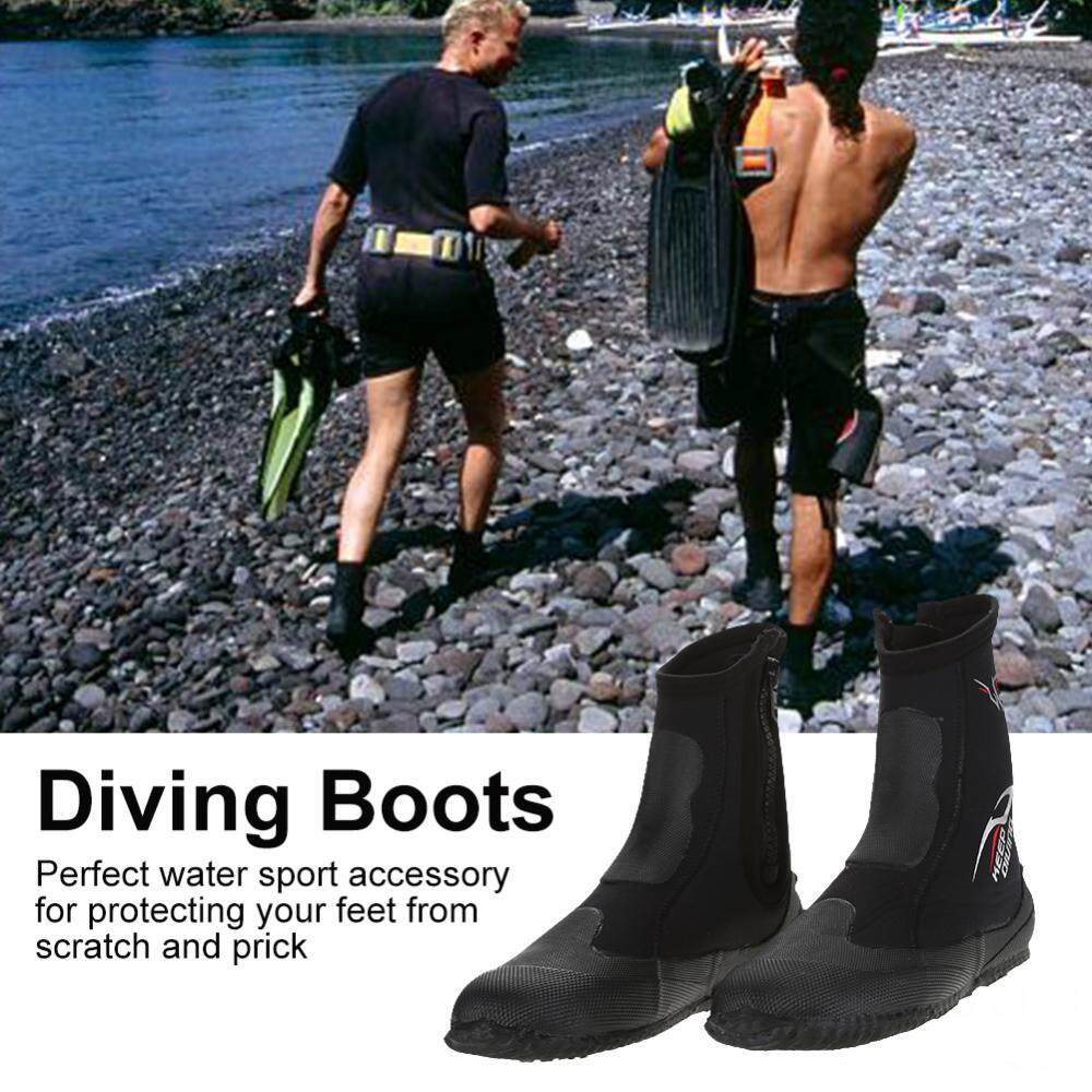 KEEP DIVING 1 Pair 5mm Neoprene Scuba Diving Snorkeling Long Boots Water Shoes(M)