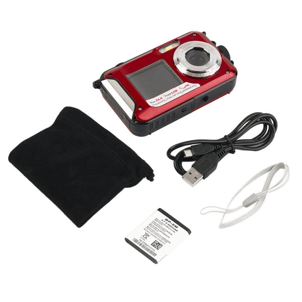 Waterproof HD Digital Camera Double Screen DV Camcorder 32GB TF card Storage