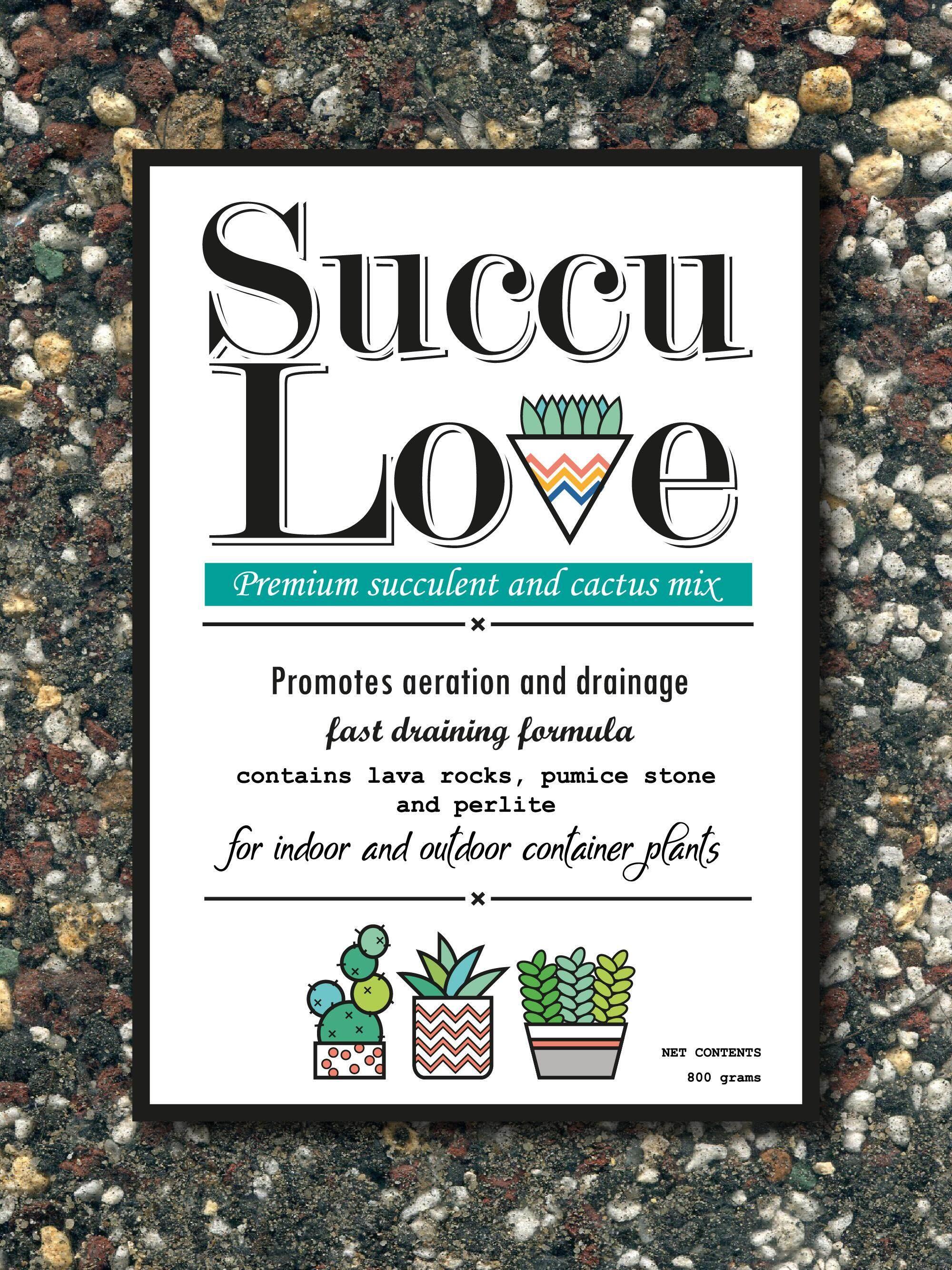 Succu Love Premium Cactus and Succulent Soil 800g