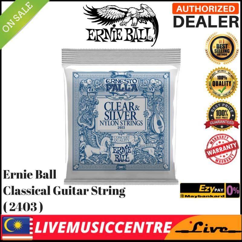 Ernie Ball 2403 Classical GUITAR Strings Ernesto Palla NyloN Clear & Silver EB2403 Malaysia