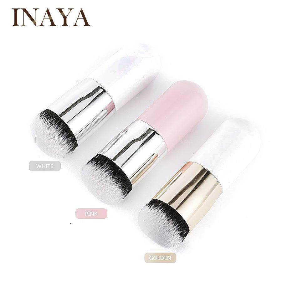 Inaya Foundation Brush Powder Flat Brush Makeup Soft Mini (pink-Gold) By Inaya Beauty.