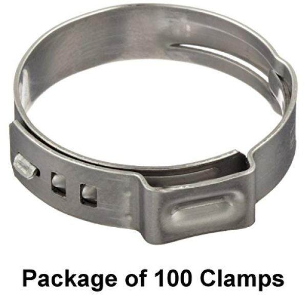 Size 3/8 (9.5 mm), Oetiker Stepless Ear Clamps, Single Ear Hose Clamps, 7 Pack Sizes Available (100)