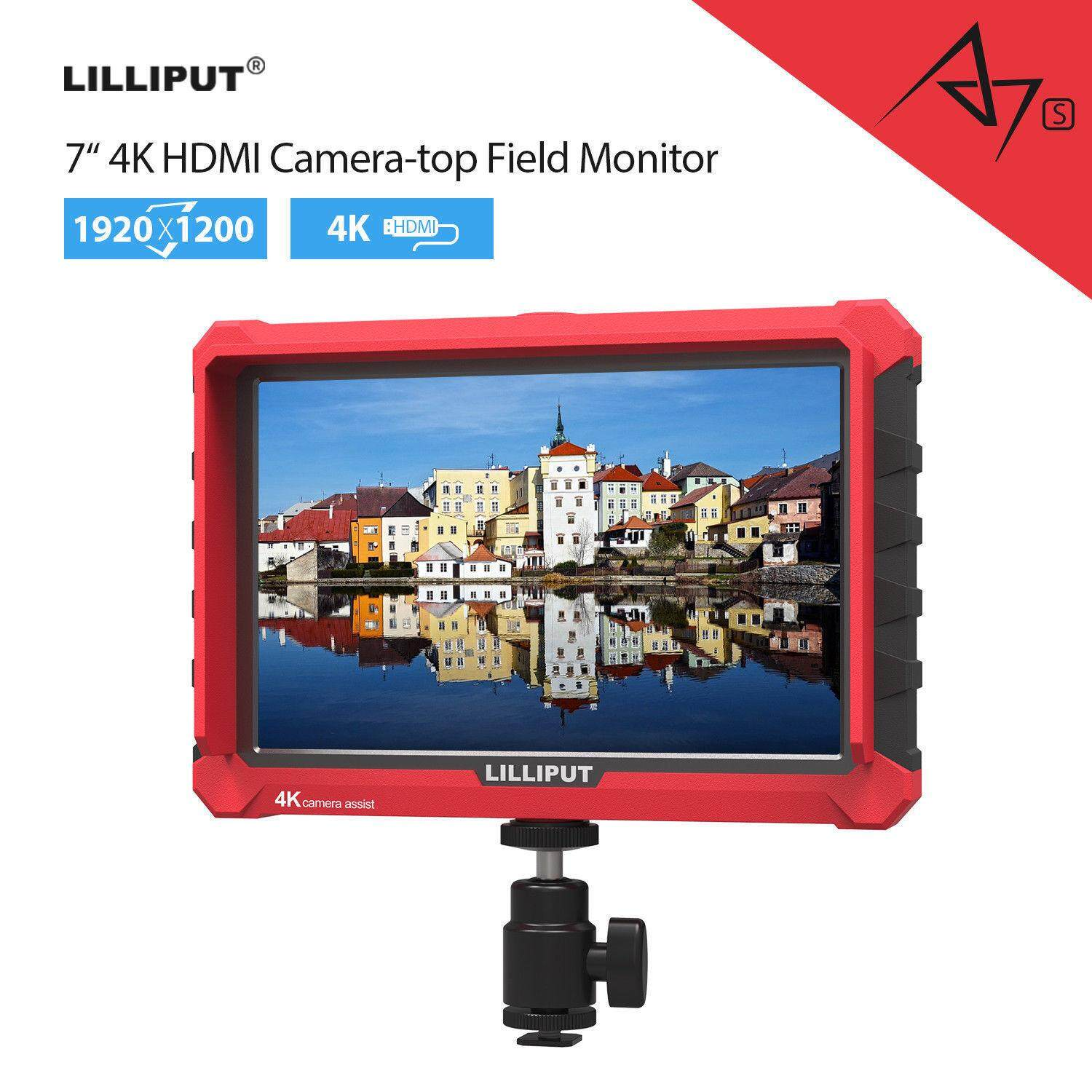Lilliput A7s 7-inch 1920x1200 HD IPS Screen 500cd/m2 Camera Field Monitor 4K HDMI Input output Video For DSLR Mirrorless Camera Malaysia