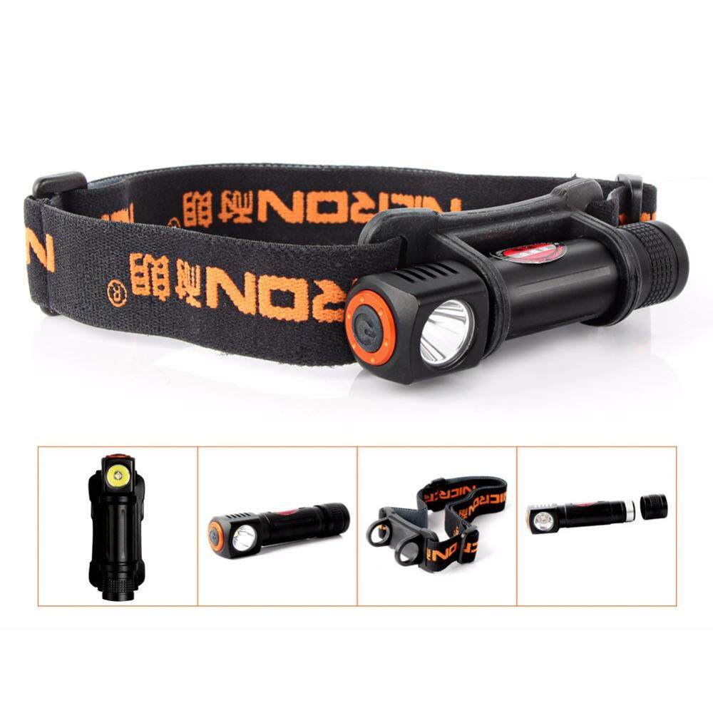 NICRON 1W Mini LED Head lamp 120Lm Camping 72 Meter Long Beam Waterproof IPX4 Flashlight HeadLight Torch Lamp H12