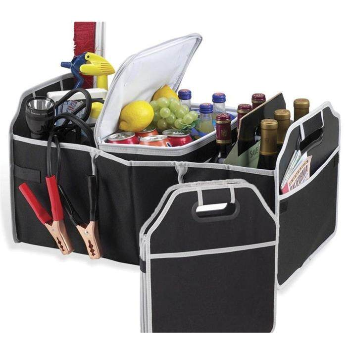 Foldable Bamboo Fiber Car Trunk Rear Bonnet Collapsible Organizer Carry Bag By Cs Mall.