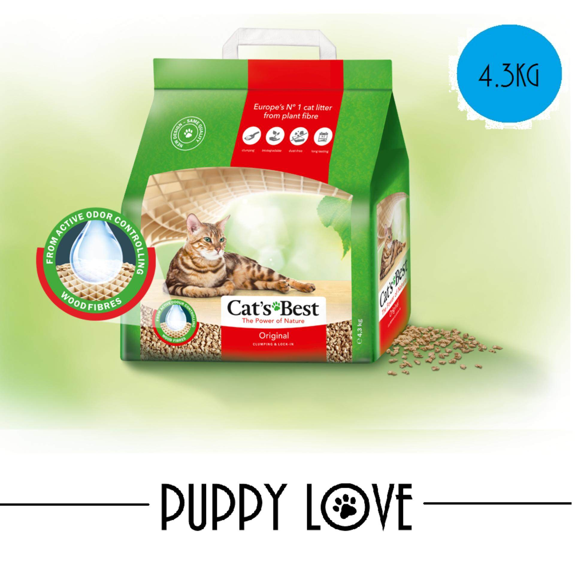 (free Shipping)cats Best Original 10l (4.3kg) By Puppy Love.