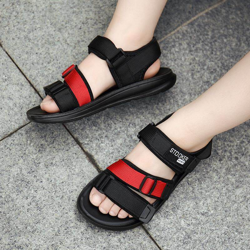 Kids Summer Sandals New Designer Children Flats Breathable Anti-Slippery Boys Girls Closed Toe Slippers Sandalias Fashion Shoes By Srong.