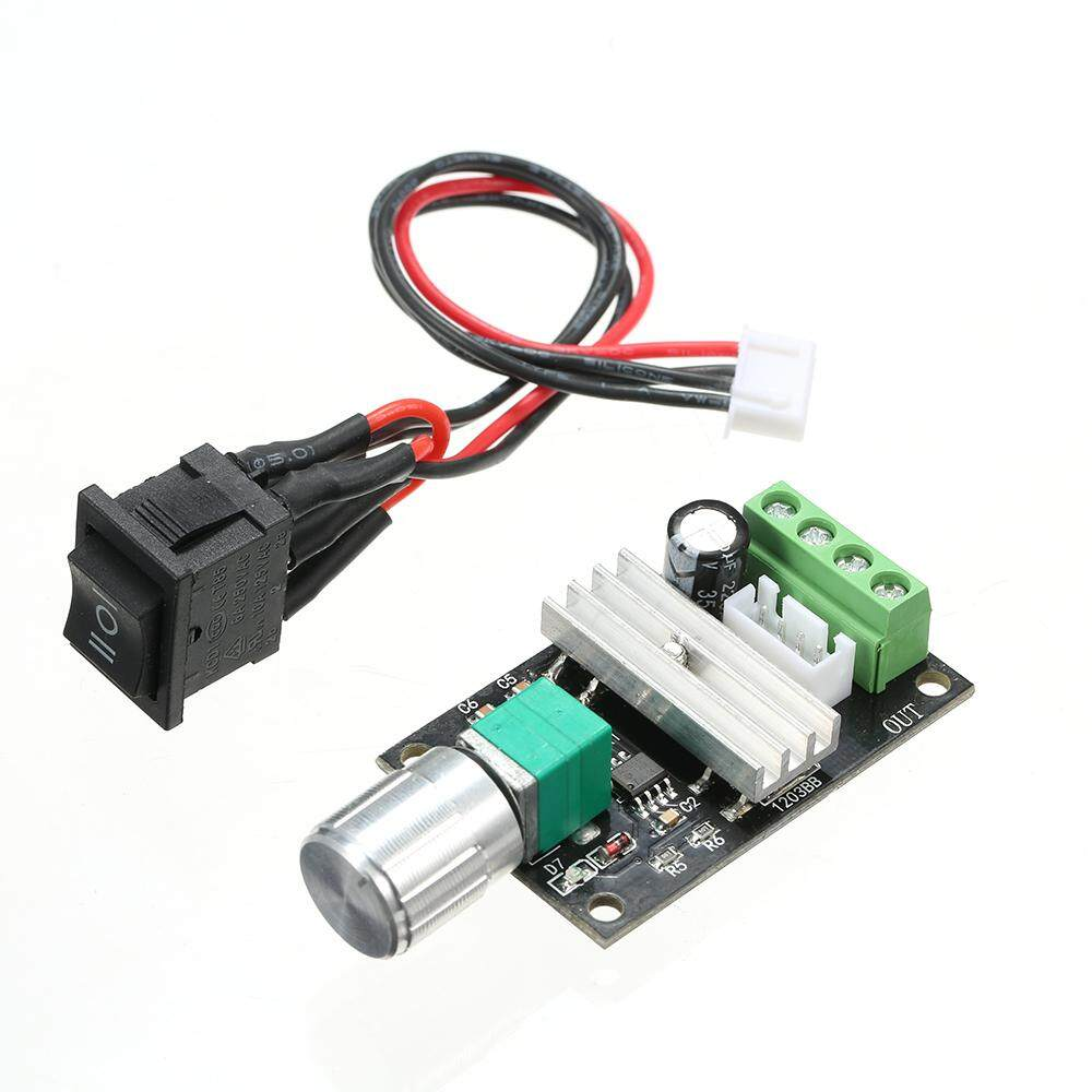 DC 6V 12V 24V 3A Motor Speed Controller PWM Speed Regulator With Reversible Switch