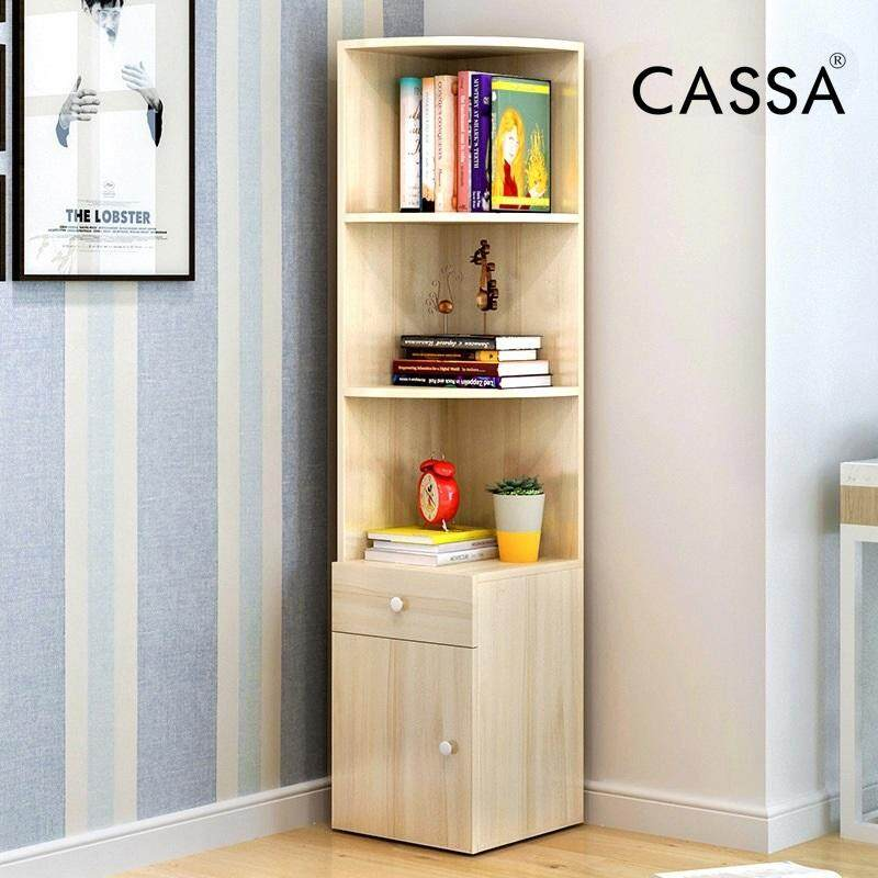 Cassa Corner Book Shelf Cabinet Decorative Maple