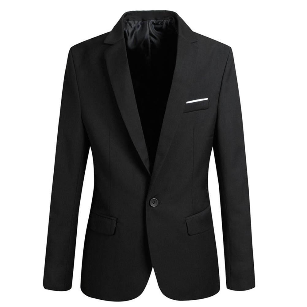 c0708d13e5aa61 Mens Formal Blazer Coat Suit Jacket Business Party Black Slim Fit Casual  Tops