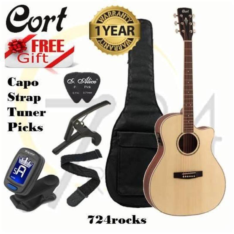 Cort Grand Regal series GA-ME Natural Glossy Acoustic Guitar Malaysia