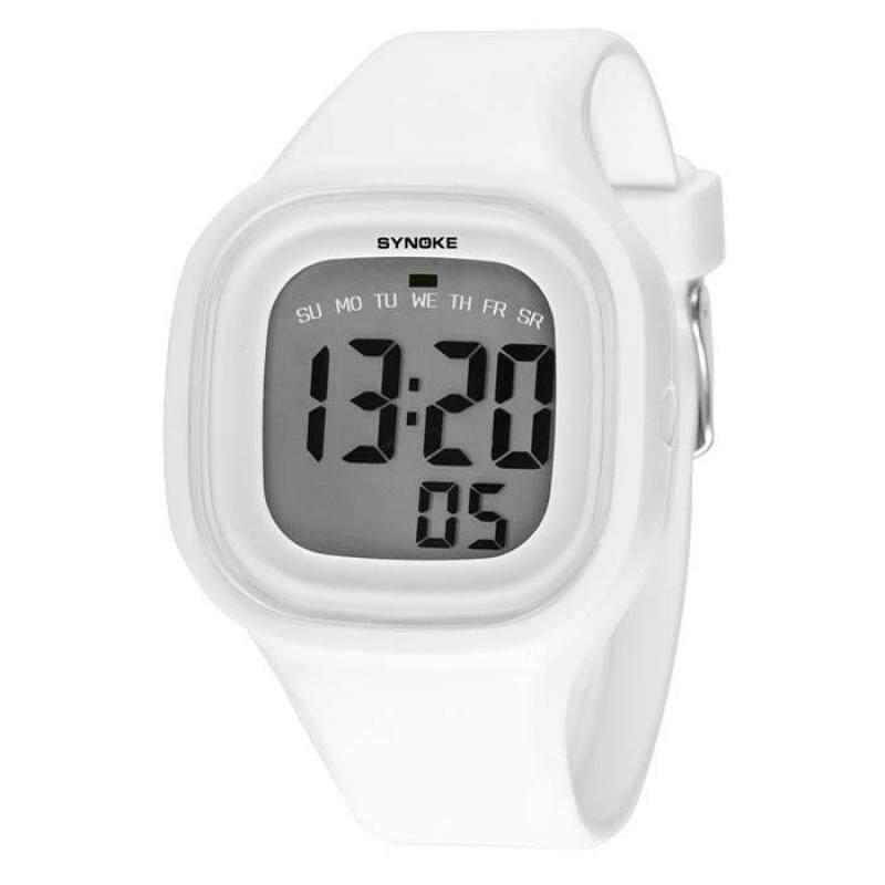 Silicone LED Light Digital Sport Wrist Watch Kid Women Girl Men Boy YE Malaysia