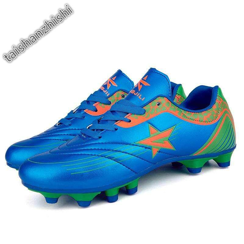 cb3677537 Kids Soccer Shoes Boys Outdoor Football Shoes Kid Sports Shoes Sneakers -  Blue