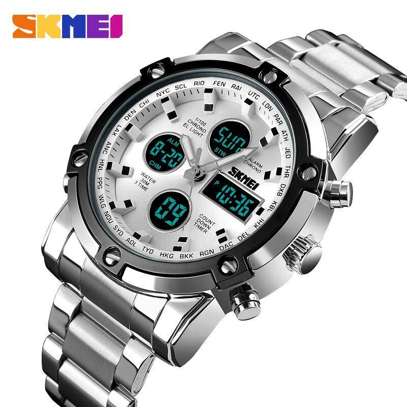 100% Authentic SKMEI Watch For Men Sports Fashion Casual Multifunction 30m Waterproof Alarm Date LED Digital Military Outdoor Dual Time Sport Watch 1389 Malaysia