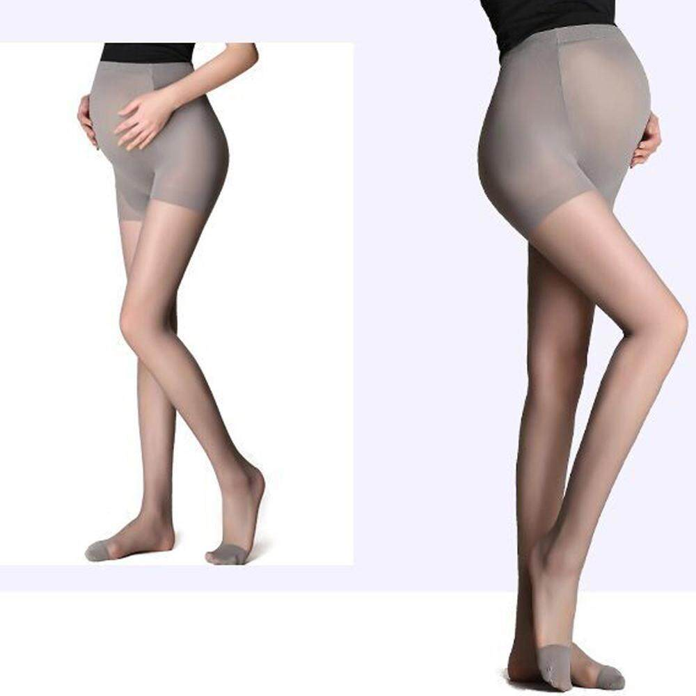 d19659eac6d Free Shipping Pregnant Women Stockings Thin Pantyhose Summer Solid  Oversized Bottom Socks