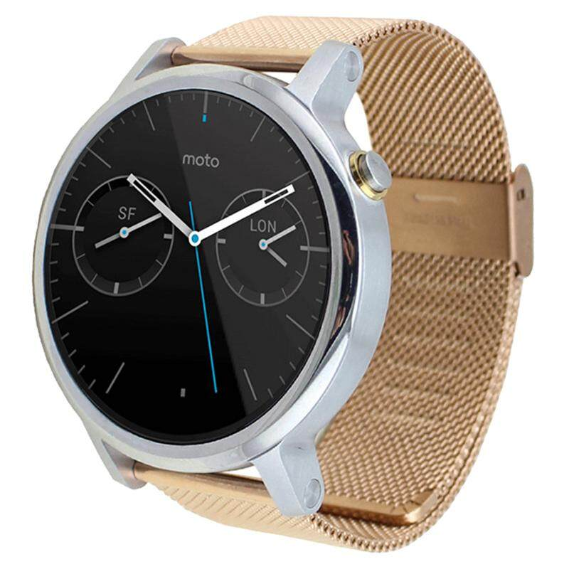 Milanese Stainless Steel Watch Band Strap For Motorola Moto 360 2nd 46mm*22mm Gold Malaysia