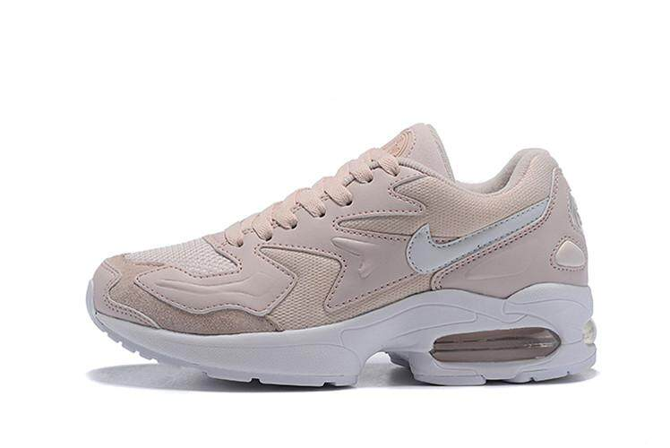 check out c57d5 d47e3 Nike Official Air Max2 Light Low Top High Quality Running Shoe WOMENS (  Pink White )