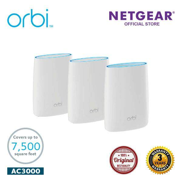Netgear Orbi High Performance AC3000 Tri-band WiFi System - RBK53