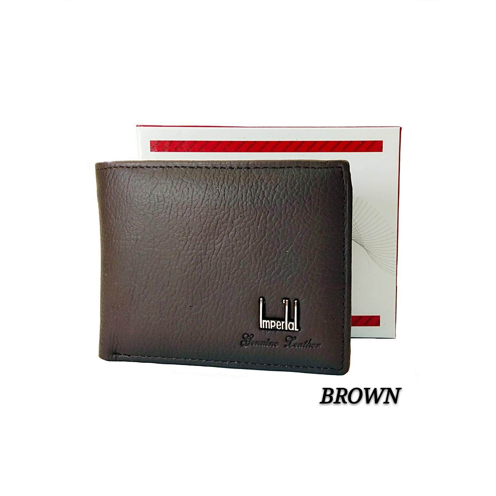 Imperial 100% Genuine Real Leather Wallet Short Wallet Man Wallet Dompet Lelaki Kulit Betul