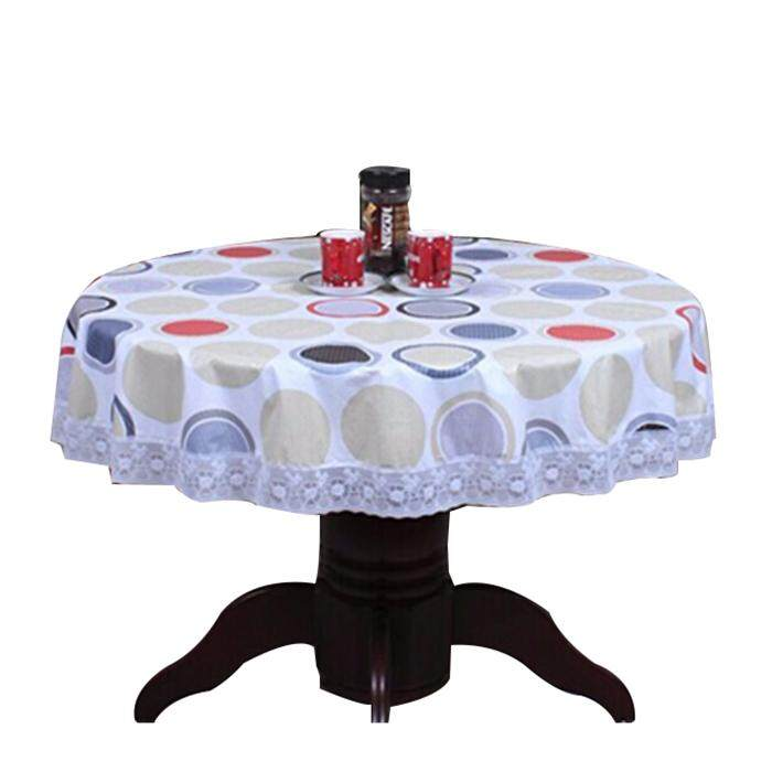 Pvc Past Round Table Cloth Waterproof Oilproof Non Wash Plastic Pad Plus Velvet Anti Hot Coffee
