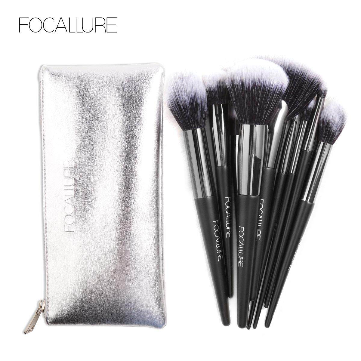 Focallure Buy At Best Price In Malaysia Glitter And Glow Liquid Eyeshadow New Arrival 10pcs Set Professional Makeup Brushes Kit Tools