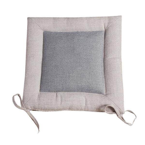 MagiDeal Flax Tatami Dining Chair Cushion Seat Mat Pillow Pad Home Decor Gray 50cm