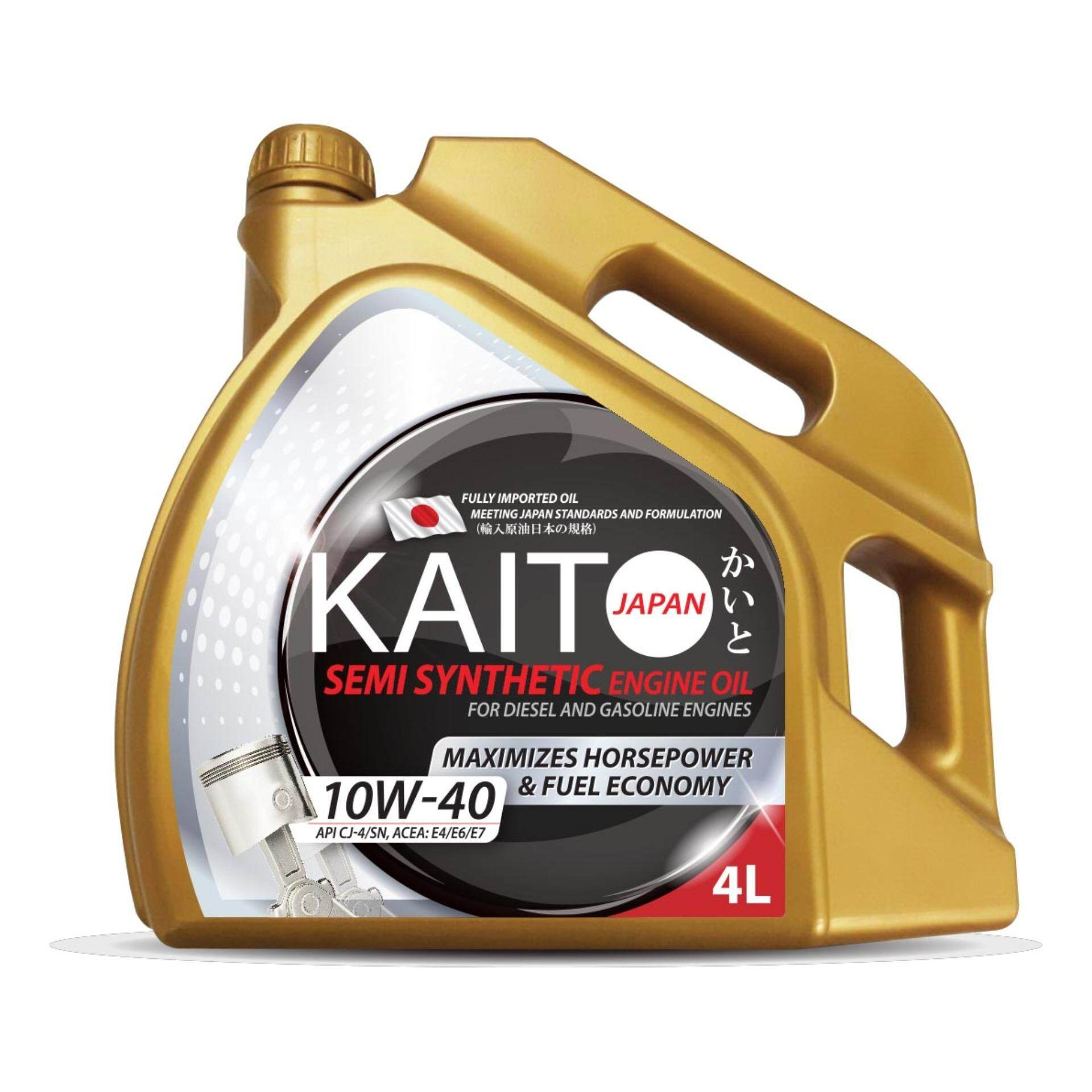 Kaito Japan 10w40 Cj-4/sn Semi Synthetic Engine Oil - 4 Liters [free Shipping] By The Climb Plt..