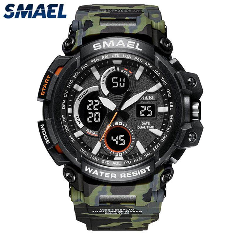 96c3aaa5c46 New Fashion SMAEL Brand Men Sport LED Digital Watch Camouflage Military  Quartz Watches Men s Shock Casual