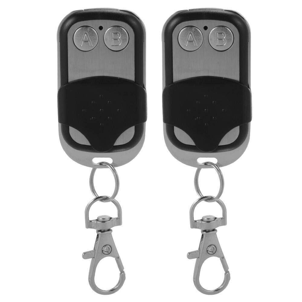 2pcs Universal Replacement Garage Door Gate Car Electric Cloning Remote Control Key Fob Opener 433Mhz/433.92Mhz
