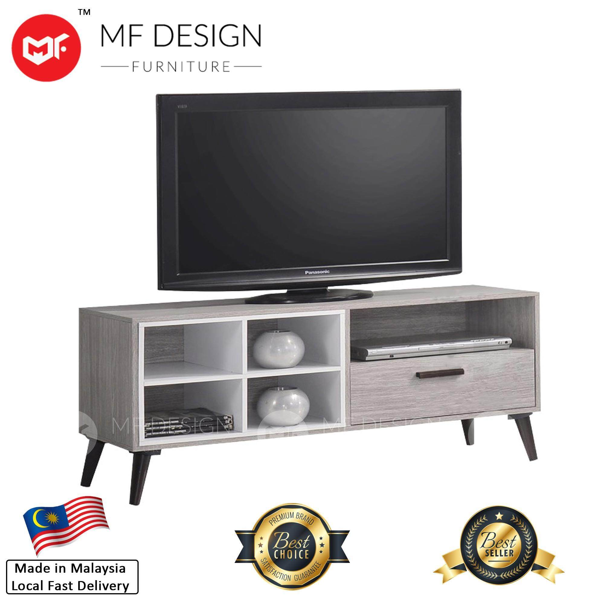 Mf Design Romeo Tv Cabinet 4 Feet Light Grey