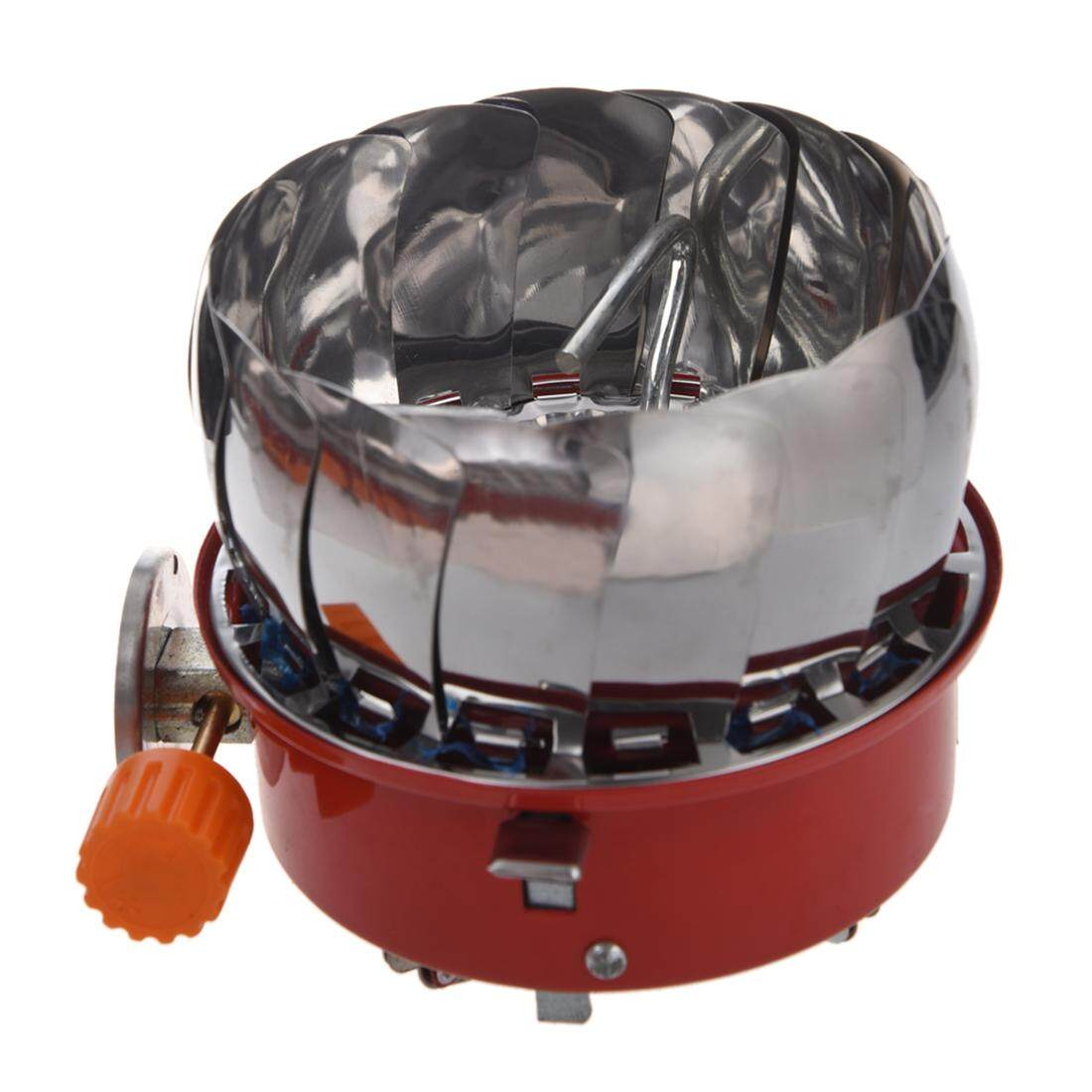 Windproof Stove Cooker Cookware Gas Burner For Camping Picnic Cookout Bbq By Yomichew.