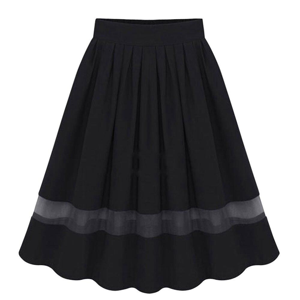 13be4d8b04 Elegant Organza Silk Pleated Skirts Fabric Splicing Skirt   Lazada
